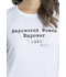Photograph of Katie Duke iFlex Women Long Sleeve Underscrub Knit Tee White CKK816-WHT