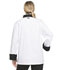Photograph of Dickies Chef Unisex Classic 10 Button Chef Coat in White with Black Trim