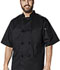 Photograph of Dickies Chef Unisex Unisex Classic Knot Button Chef Coat S/S Black DC48-BLK