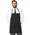 Photograph of Dickies Chef Bib Apron with Adjustable Neck in Black