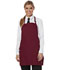 Photograph of Dickies Chef Bib Apron with Adjustable Neck in Burgundy