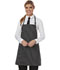 Photograph of Dickies Chef Bib Apron with Adjustable Neck in Black/White Stripe