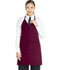 Photograph of Dickies Chef V-Neck Tuxedo Apron with Snaps in Burgundy