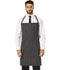 Photograph of Dickies Chef Set Strap, No Pocket Bib Apron in Black/White Stripe
