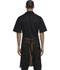 Photograph of Dickies Chef Bib Apron with Brown Straps in Black Denim