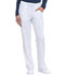 Photograph of EDS Essentials Women's Mid Rise Straight Leg Drawstring Pant White DK010-WTPS