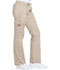 Photograph of Gen Flex Women's Low Rise Straight Leg Drawstring Pant Khaki DK100-KHIZ