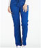 Photograph of Essence Women's Mid Rise Straight Leg Drawstring Pant Blue DK106-GAB