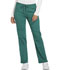 Photograph of Dickies Essence Women's Mid Rise Straight Leg Drawstring Pant Green DK106-HUN