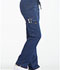 Photograph of Essence Women's Mid Rise Straight Leg Drawstring Pant Blue DK106-NAV