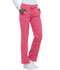 Photograph of Dickies Dynamix Women's Mid Rise Straight Leg Drawstring Pant Red DK130-DNSU