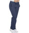 Photograph of Dickies Dynamix Women's Mid Rise Straight Leg Drawstring Pant Blue DK130-NAV