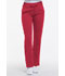 Photograph of Dickies Dynamix Women's Mid Rise Straight Leg Drawstring Pant Red DK130-RED