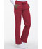 Photograph of Dynamix Women's Mid Rise Straight Leg Drawstring Pant Red DK130-RED