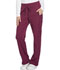 Photograph of Dickies Dynamix Women's Mid Rise Straight Leg Drawstring Pant Red DK130-WIN
