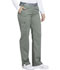 Photograph of Essence Women's Mid Rise Tapered Leg Pull-on Pant Green DK140-OLV