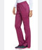 Photograph of Dickies Advance Mid Rise Boot Cut Drawstring Pant in Sangria Twist