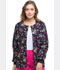 Photograph of Dickies Prints Women's Snap Front Warm-Up Jacket Beautiful Petals DK301-BUPT