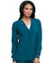 Photograph of EDS Essentials Women's Snap Front Warm-up Jacket Blue DK305-CAPS