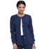 Photograph of EDS Essentials Women's Snap Front Warm-up Jacket Blue DK305-NYPS