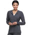 Photograph of EDS Essentials Women's Snap Front Warm-up Jacket Gray DK305-PWPS
