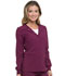 Photograph of Every Day EDS Essentials Women's Snap Front Warm-up Jacket Red DK305-WNPS