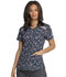 Photograph of Dickies Dynamix Women V-Neck Top Dot's So Geo DK602-DTSG