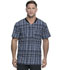 Photograph of Dickies Dynamix Men Men's Rib Knit V-Neck Top Positively Plaid Pewter DK607-PDPW