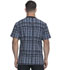 Photograph of Dickies Dynamix Men's Men's Rib Knit V-Neck Top Positively Plaid Pewter DK607-PDPW