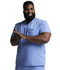 Photograph of Dickies Dynamix Men's Men's V-Neck Top Blue DK610-CIE