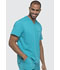 Photograph of Dickies Dynamix Men's V-Neck Top in Teal Blue