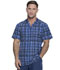 Photograph of Dickies Dickies Dynamix Men's V-Neck Top in Positively Plaid Navy