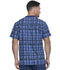 Photograph of Dickies Dynamix Men Men's V-Neck Top Positively Plaid Navy DK611-PDNV