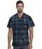 Photograph of Dickies Dickies Dynamix Men's V-Neck Top in Tie Dye Stripes Pewter