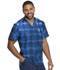 Photograph of Dickies Dickies Dynamix Men's V-Neck Top in Tie Dye Stripes Navy