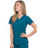 Photograph of Dickies EDS Essentials V-Neck Top in Caribbean Blue