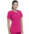 Photograph of Dickies Every Day EDS Essentials V-Neck Top in Hot Pink