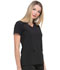 Photograph of Dickies EDS Essentials Women's Mock Wrap Top Black DK625-BAPS