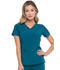 Photograph of Dickies Every Day EDS Essentials Mock Wrap Top in Caribbean Blue
