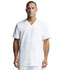 Photograph of Dickies Dynamix Men's Men's V-Neck Top White DK640-WHT