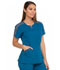 Photograph of Dynamix Women's Shaped V-Neck Top Blue DK665-CAR