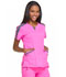 Photograph of Dickies Dynamix Women's Shaped V-Neck Top Pink DK665-COPK