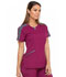 Photograph of Dickies Dynamix Shaped V-Neck Top in Wine