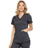 Photograph of Dickies Advance Two Tone Twist Women's V-Neck Top Black DK680-ONXT