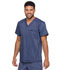 Photograph of Dickies Advance Two Tone Twist Men's Men's V-Neck 3 Pocket Top Blue DK695-NAVT