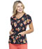 Photograph of Dickies Dickies Prints V-Neck Top in Caring Clusters