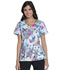 Photograph of Dickies Prints Women V-Neck Top Zen Butterfly Garden DK700-ZENU