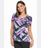 Photograph of Dickies Dickies Prints V-Neck Top in Grid Garden