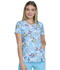 Photograph of Dickies Prints Women's V-Neck Top Let's Butterfly Away DK702-LEBU