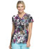 Photograph of Dickies Dickies Prints V-Neck Top in Rainbow Garden